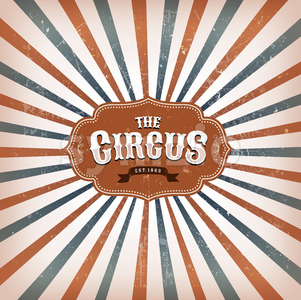 Vintage Circus Background With Sunbeams Stock Vector