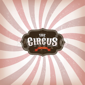 Circus Background With Grunge Texture Stock Vector