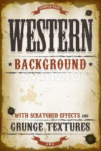 Vintage Western Background Stock Vector