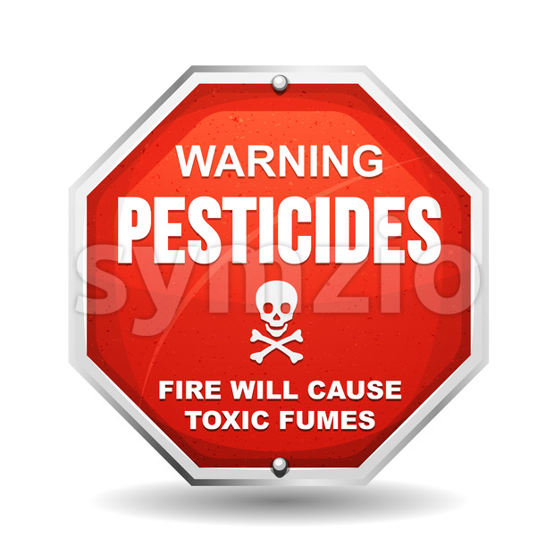 Warning Pesticide Danger Stock Vector