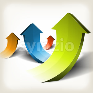 Abstract Rising Arrows Stock Vector