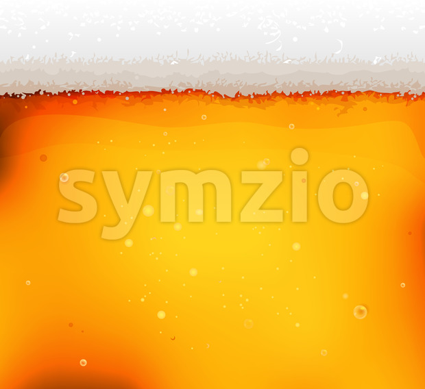 Beer Texture Background With Froth And Bubbles Stock Vector