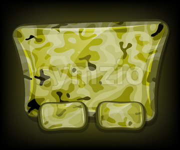 Camo Sign For Game Ui Stock Vector