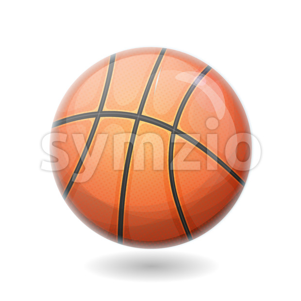 Basketball Ball Isolated Stock Vector