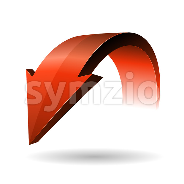 Designed Red Arrow Stock Vector
