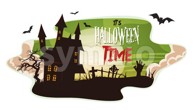 Halloween Smoke Background Stock Vector