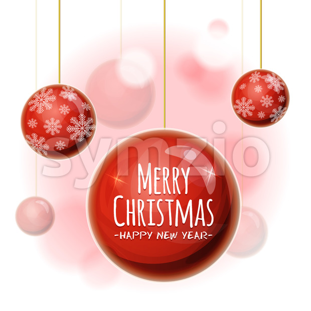 Christmas Background With Balls Stock Vector