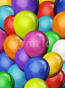 Carnival Party Balloons Background Stock Vector