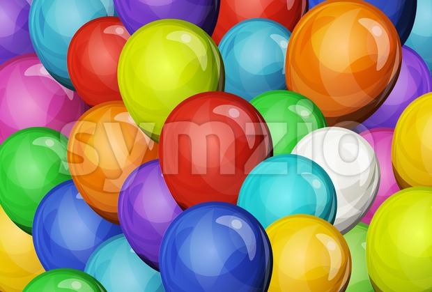 Abstract Party Balloons Background Stock Vector