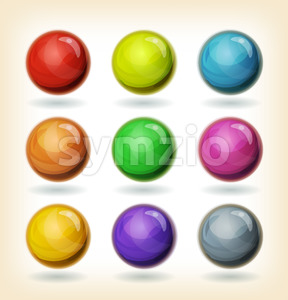 Multicolored Balls Set Stock Vector