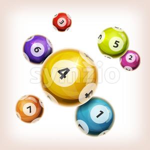 Snooker Balls Background Stock Vector