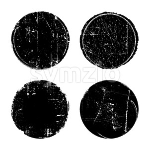 Grunge Textured Round Seal Stamps Stock Vector