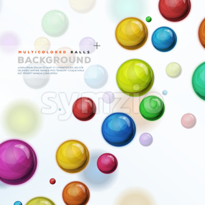 Multicolored Balls, Balloons And Pills Background Stock Vector