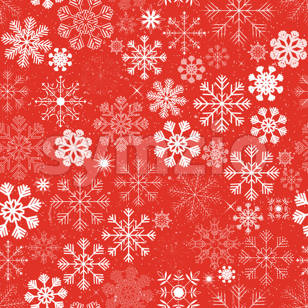 Seamless Christmas Snowflakes Background Stock Vector