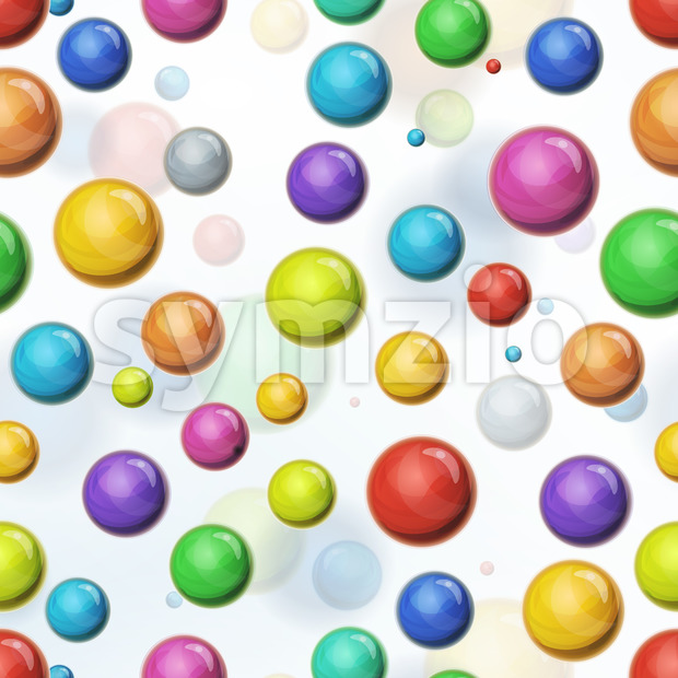 Seamless Multicolored Balls Background Stock Vector