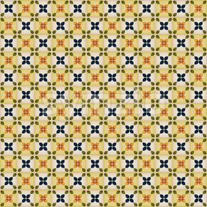 Seamless Wallpaper With Portuguese Tiles Stock Vector