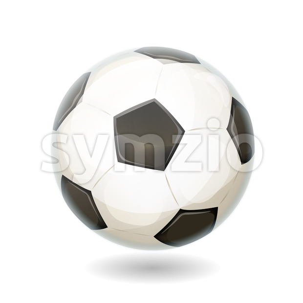 Soccer Ball Isolated Stock Vector
