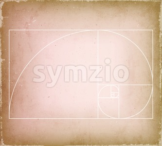 Golden Ratio On Old Vintage Background Stock Vector