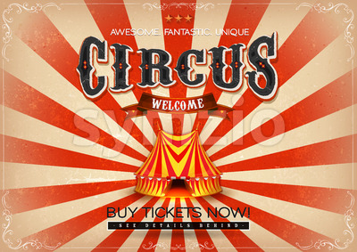 Vintage Circus Poster Stock Vector