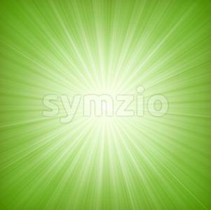 Elegant Green Starburst Background Stock Vector
