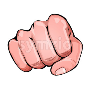 Comic Power Fist Punching Stock Vector