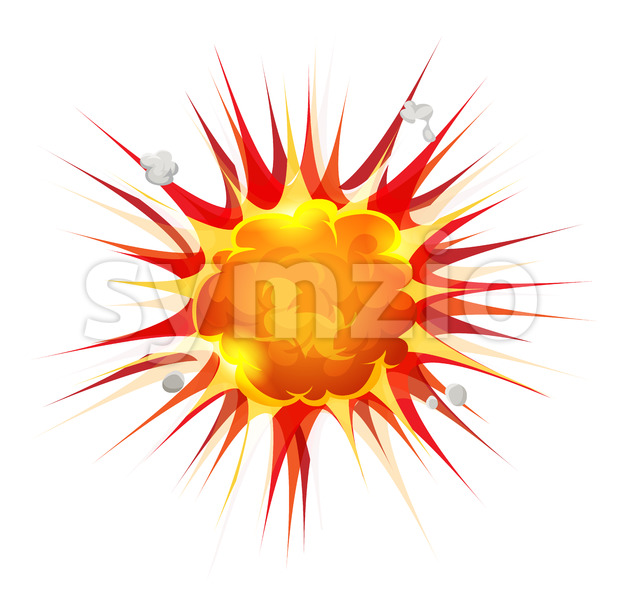 Comic Firebomb Explosion Stock Vector