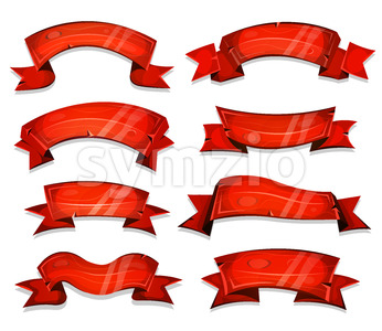 Wooden Christmas Parchment Scrolls Stock Vector