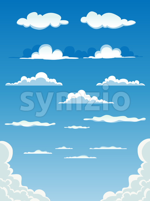 Cartoon Clouds Set Stock Vector