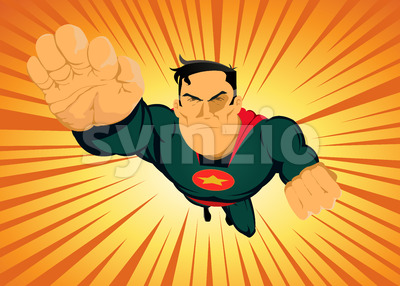 Comic Superhero - Fast And Furious Stock Vector