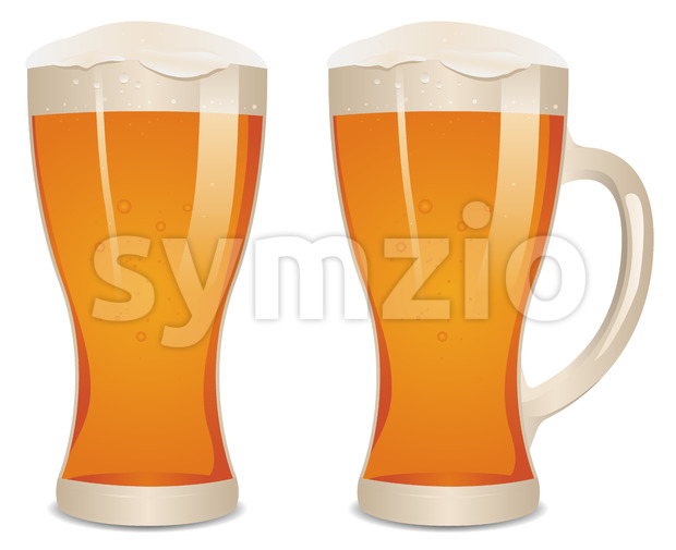 Illustration of a mouth watering glass of fresh beer.
