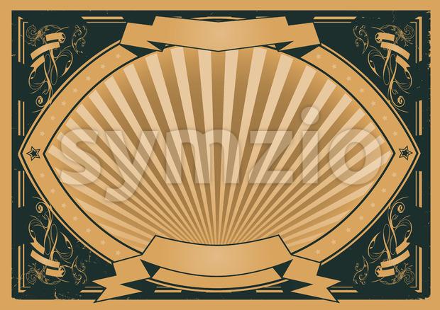 Illustration of a landscape version grunge horizontal design poster background with
