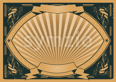 Vintage Ribbons And Banners Poster Stock Vector