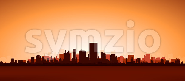 Heat City Stock Vector