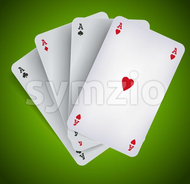 Poker Aces - Casino Gambling Stock Vector