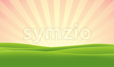 Spring Morning Sky Stock Vector