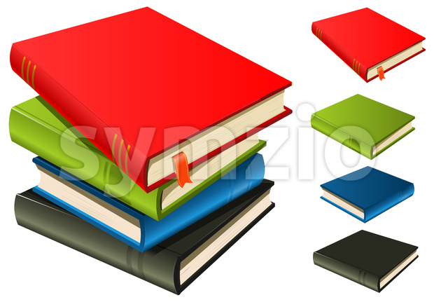 Stack Of Books - Set And Separated Stock Vector
