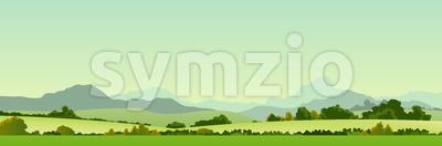 Summer Season Country Banner Stock Vector