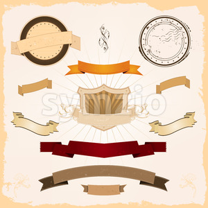 Graphic Banners Set Stock Vector