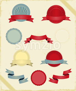 Vintage Ribbons And Banners Series Stock Vector