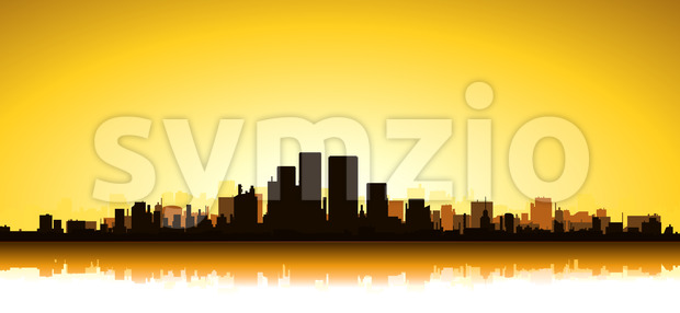 Gold Cityscape Stock Vector