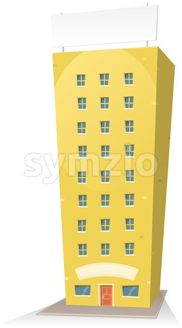 Cartoon Building With Sign Stock Vector