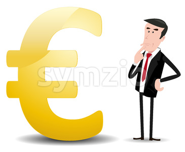 Which Future For Euro Currency ? Stock Vector