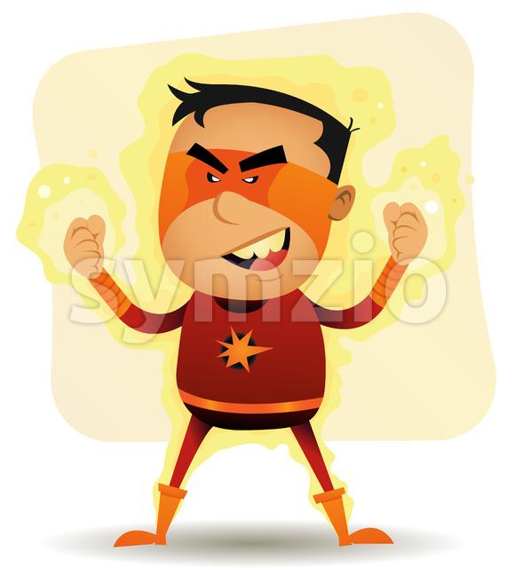 Power Boy - Comic Superhero Stock Vector
