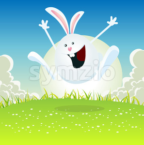 Cartoon Easter Bunny Stock Vector