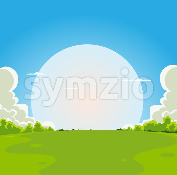 Cartoon Moonrise Background Stock Vector