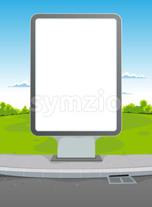 White Billboard Stock Vector