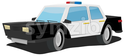 Cartoon Police Car Stock Vector
