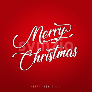 Merry Christmas Lettering Greeting Card Stock Vector