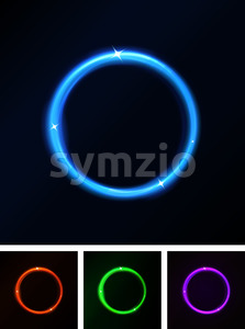 Abstract Shiny Laser Light Circles Stock Vector