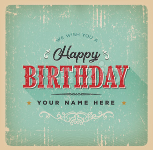 Vintage Birthday Poster Stock Vector
